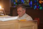 Dick Valletta at the organ